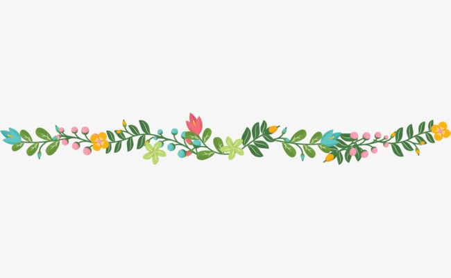 Cartoon Leaves Ly Green Leaves Dividing Line Png And Vector With Transparent Background For Free Download Theme Dividers Instagram Floral Border Design Theme Divider
