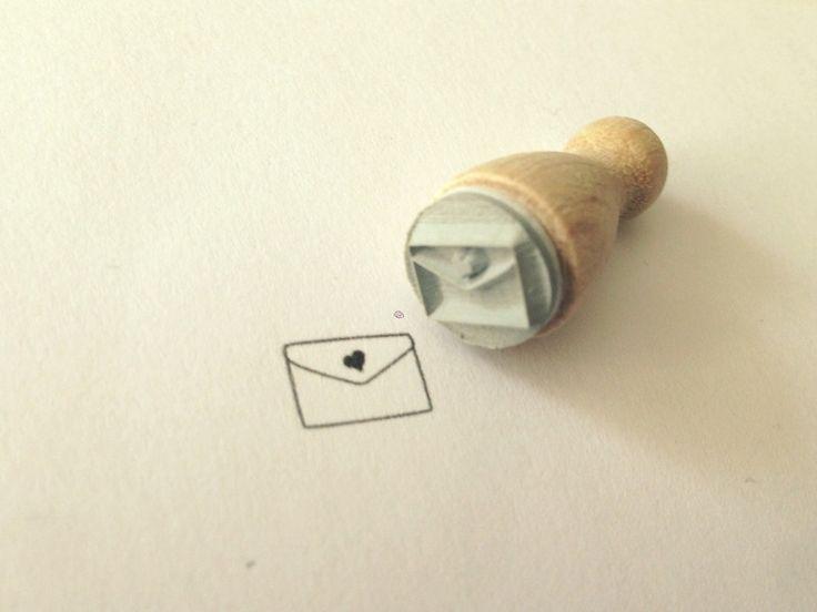 Mini Holzstempel ★Liebesbrief★ von Herz-Buffet auf DaWanda.com