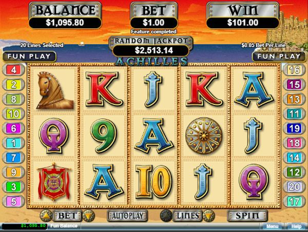 Play free slots like the Achilles slot instantly at http://www.CasinoGames.com. The Casino Games site offers free casino games, casino game reviews and free casino bonuses for 100's of online casino games. Find the newest free slots at Casinogames.com.