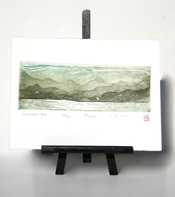 Aotearoa  Original Etching by freshandsilly on Etsy, $25.00