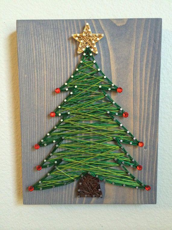 CUSTOM Christmas Tree String Art by KiwiStrings on Etsy