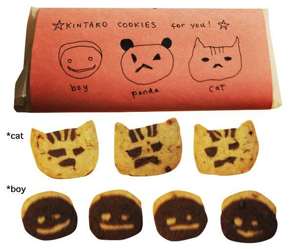 金太郎クッキー:ネコ+少年とギフトセット。