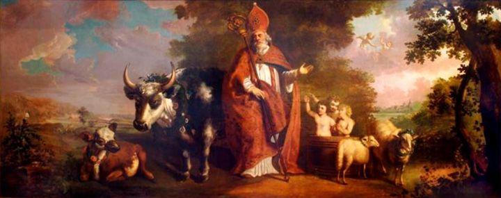 Sint Nicolaas als patroon van het beenhouwersgilde, 1789