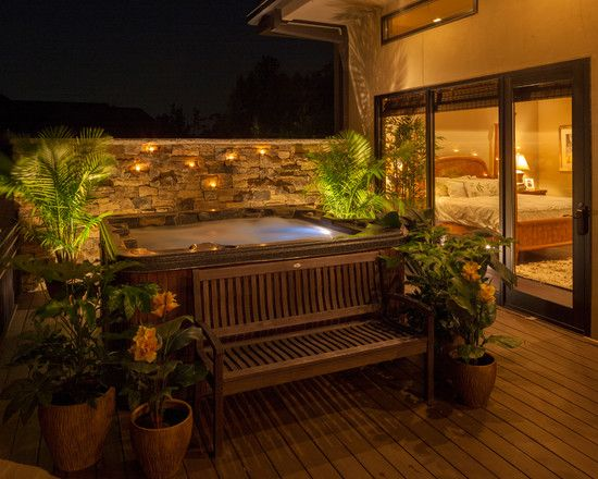 Hot Tub Ideas Backyard unique adventurous hot tub patio designs picture tripwd and hot tub patio designs 15 Square Hot Tubs For Relaxation