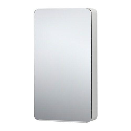 89 € - IKEA - BRICKAN, Meuble avec miroir, , Etagères avec bord surélevé pour éviter que les objets ne tombent.Avec ses angles arrondis et doux, ce meuble est idéal pour les espaces restreints.Le miroir est doté d'une pellicule anti-éclats au dos, ce qui réduit le risque de blessure si le verre se brise.