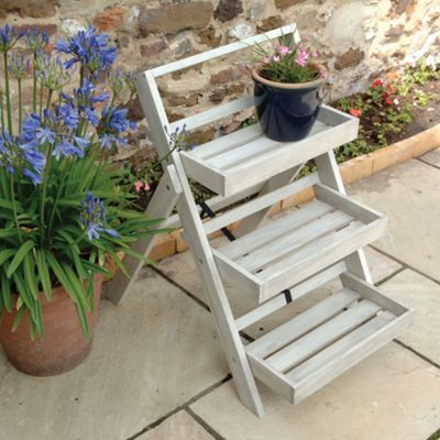 norfolk leisure acacia wood small folding etagere. Black Bedroom Furniture Sets. Home Design Ideas