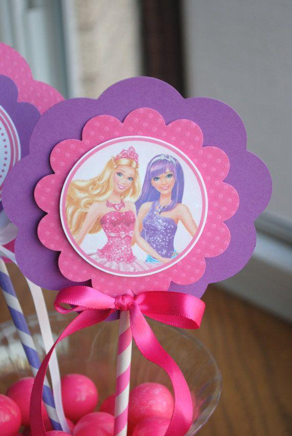NEW - Princess and Popstar Barbie Centerpiece, set of 3 $24.00