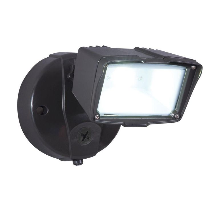 AllPro Bronze Outdoor Integrated LED Small SingleHead