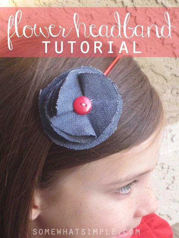 Fabric Flower Headbands Tutorial - Somewhat Simple