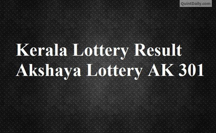 Kerala Lottery Result Akshaya Lottery AK 301 - Kerala Lottery Result - Akshaya Lottery AK 301 - Lottery Result - Kerala Lottery - Akshaya AK 301 Results.