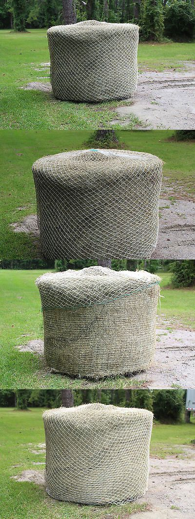Hay Nets and Bags 159013: Slow Horse Hay Round Bale Net Feeder Save $$ Eliminates Waste Fits 6 X 6 Bales BUY IT NOW ONLY: $244.95