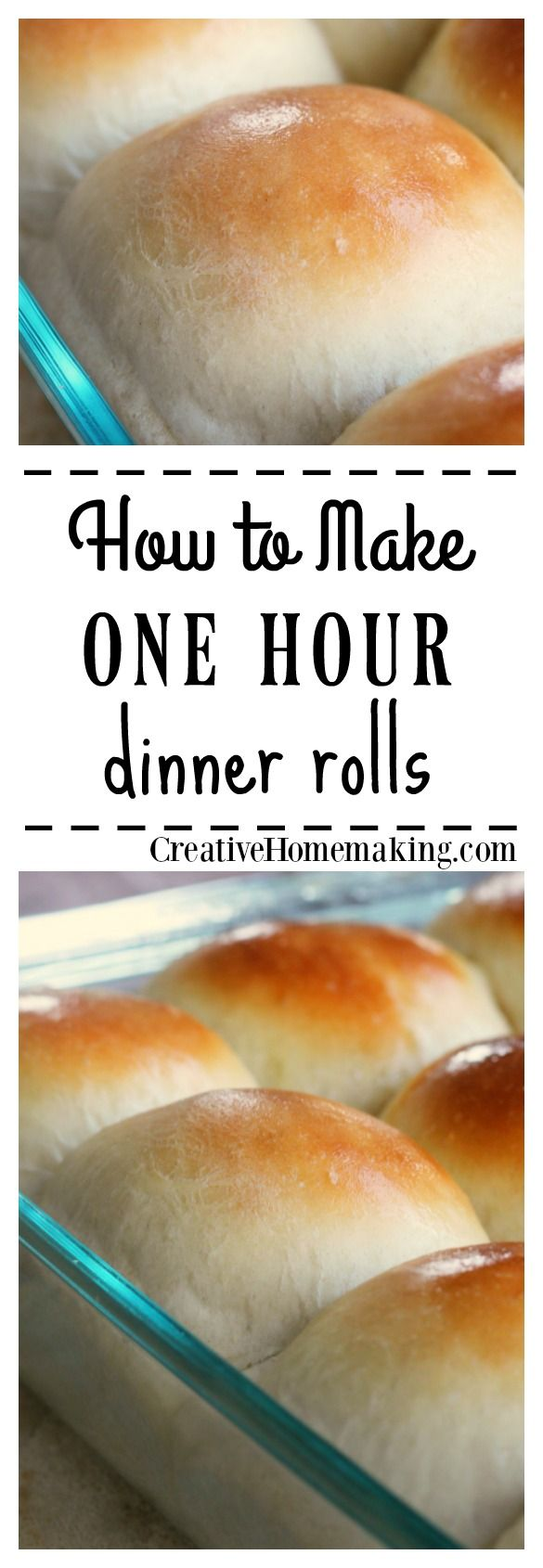 No time for baking bread? Try these one hour dinner rolls and have homemade bread on the table in no time.