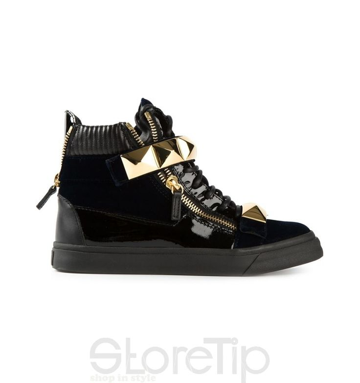 Giuseppe Zanotti Design Zip Detail Hi-Top Sneakers - StoreTip