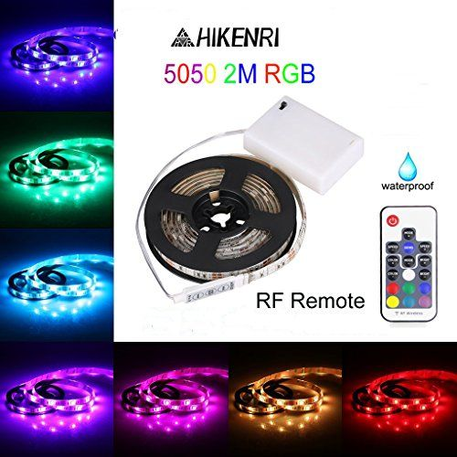 Battery Powered Led Light Strips,5050 2M/6.6FT IP65 Water...