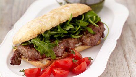 Chargrilled Rib Eye Steak with Blue Cheese