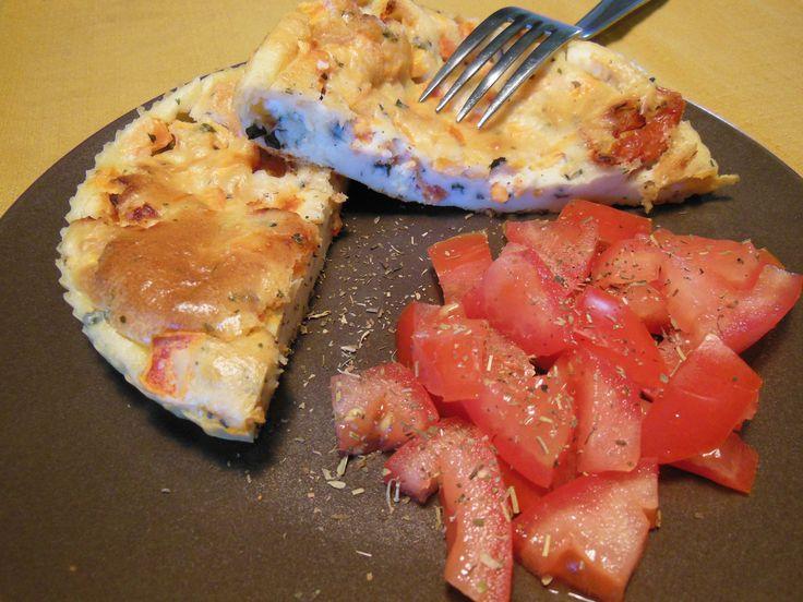 Clafoutis Chèvre Tomates