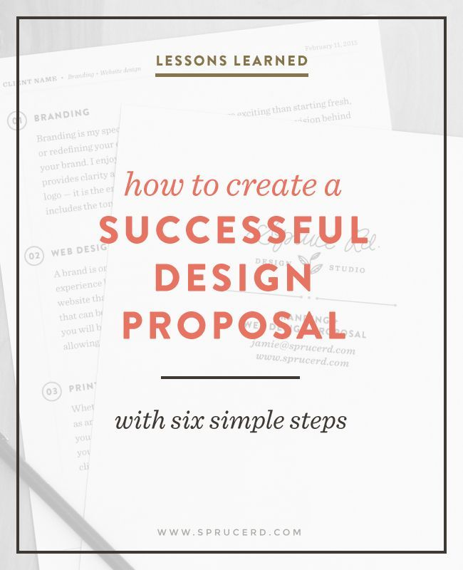 How to create a successful design proposal | Spruce Rd. #freelance #designresource #entrepreneur
