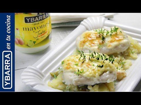 Receta Merluza gratinada con patatas panadera - Ybarra en tu cocina
