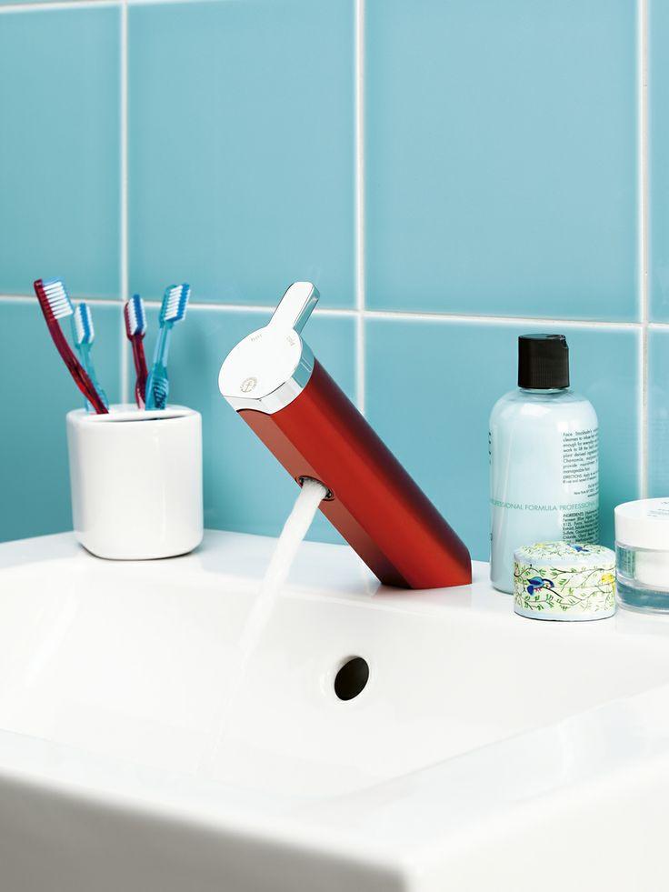 Tvättställsblandare från Coloric i färgen Passionate red. | GUSTAVSBERG