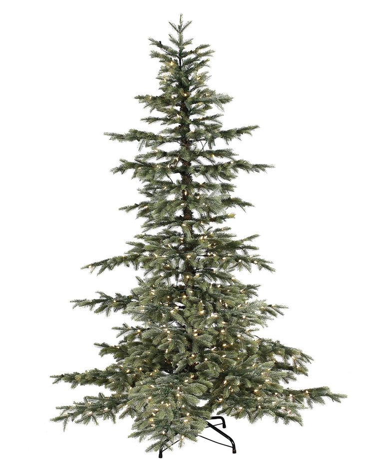 8ft Pre-lit Windsor Spruce Feel-Real Artificial Christmas Tree