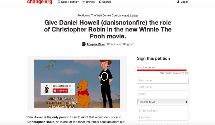 Dan Howell is the only person I can think of who can truly do justice to the role of Christopher Robin.  Please get this to Dan, Phil, Disney, and beyond!