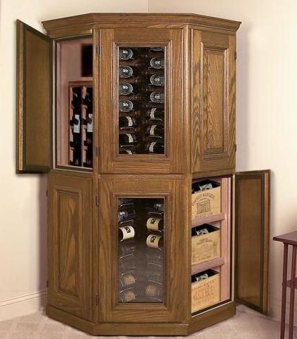 Corner Wine Cabinet