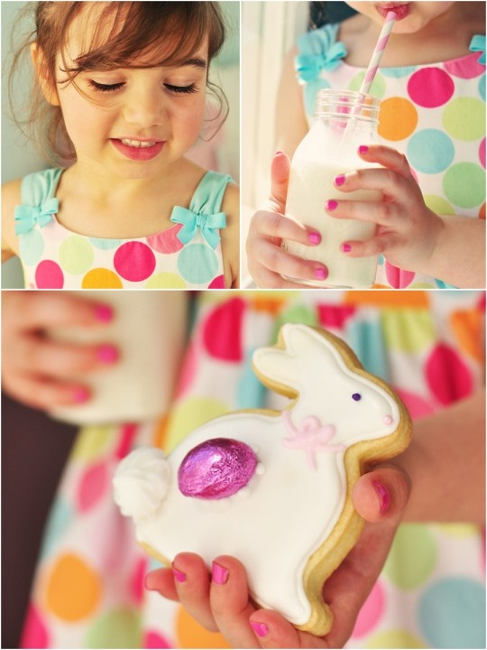 can you stand the sweetness of this little girls chubby fingers? figolli cookie stuffed with marzipan! yes please!