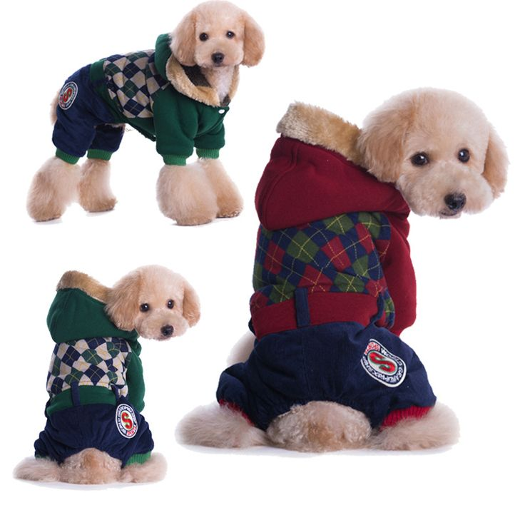 Plaid cotton winter dog coats //Price: $14.95 & FREE Shipping //     #doglovers