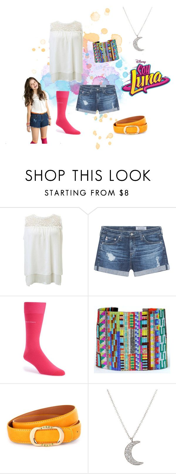 """""""soy luna"""" by maria-look on Polyvore featuring AG Adriano Goldschmied, Calvin Klein, Julie Rofman and Finn"""