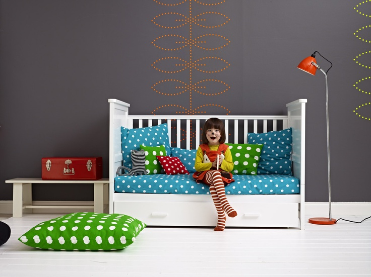 Our fabulous new Cosatto Do-Re-Mi cot bed converts to a bed and then a sofa -perfect for cute little readers. See www.cosatto.com from mid May for details.