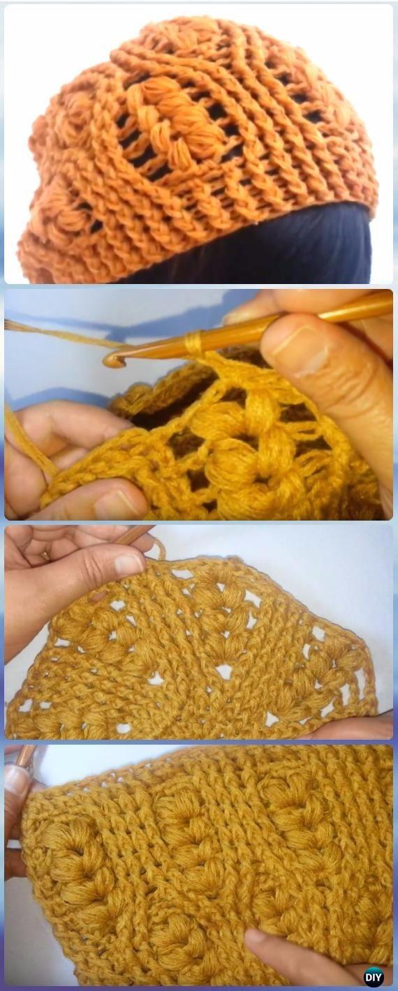 Crochet Wheat Stitch Slouch Hat Free Pattern [Video] - Crochet Wheat Stitch Free Patterns [Video]
