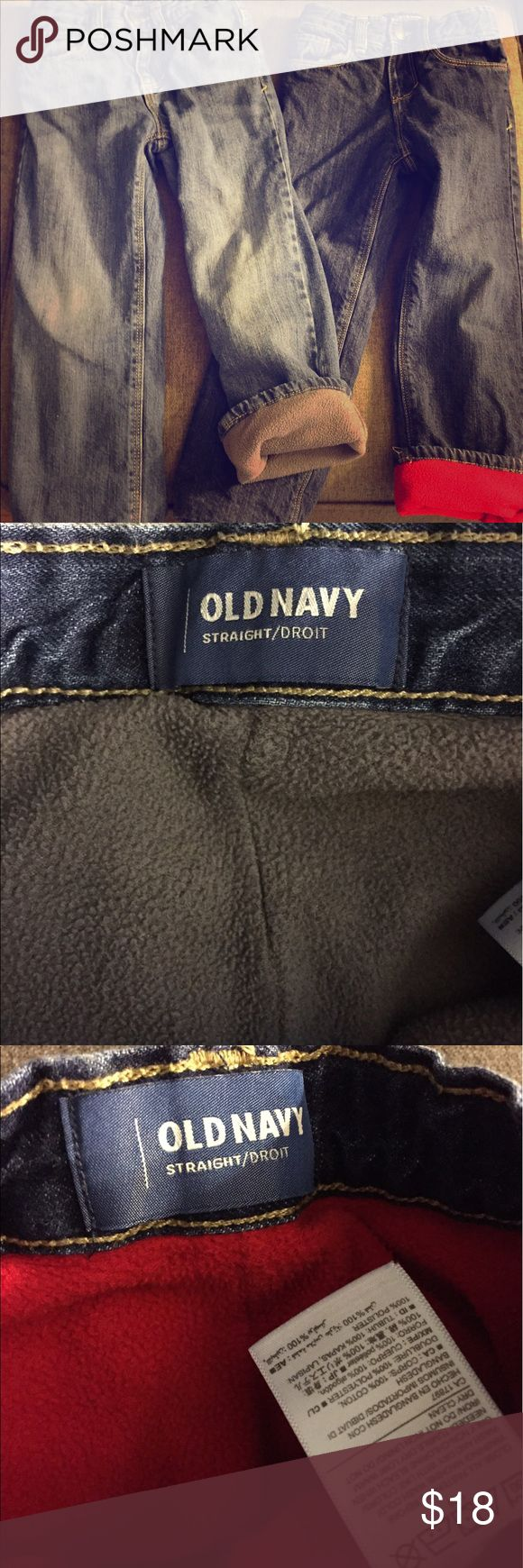 2 pair of old navy fleece lined jeans EUC! Very warm and super cute! Both pair included. Old Navy Bottoms Jeans