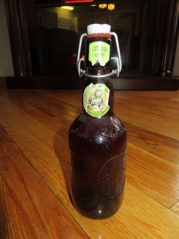 Grolsch Beer Amber Brown Lager Beer Bottle with Porcelain Swing Top (Empty) #Grolsch