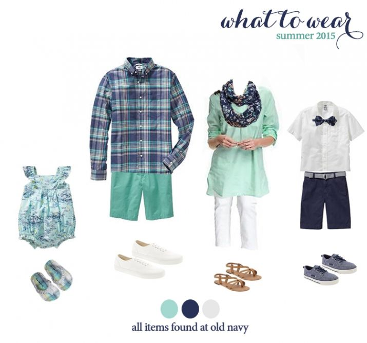 what to wear for summer family photos!  very cute summer looks!