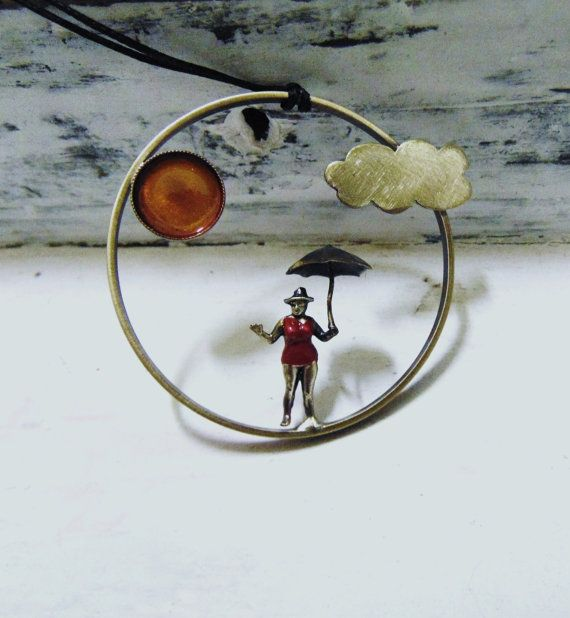 Cirlce Pendant JewelryWoman Figure With by pepeyoyojewellery