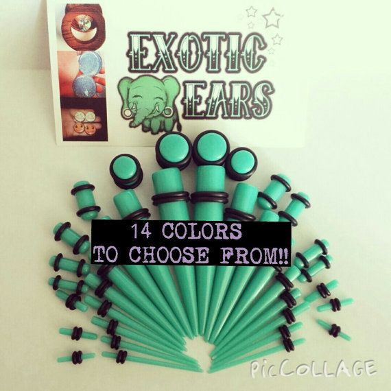 ExoticEars© stretching kit 14g-00g tapers and plugs by ExoticEars
