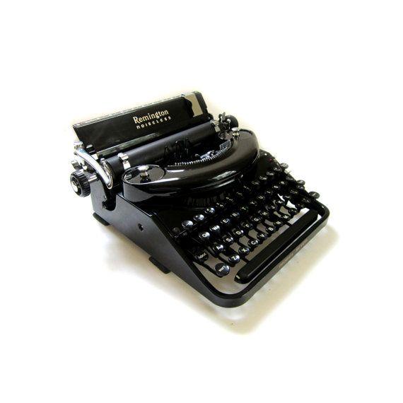 1930s Remington Noiseless Typewriter Model by lakesidecottage