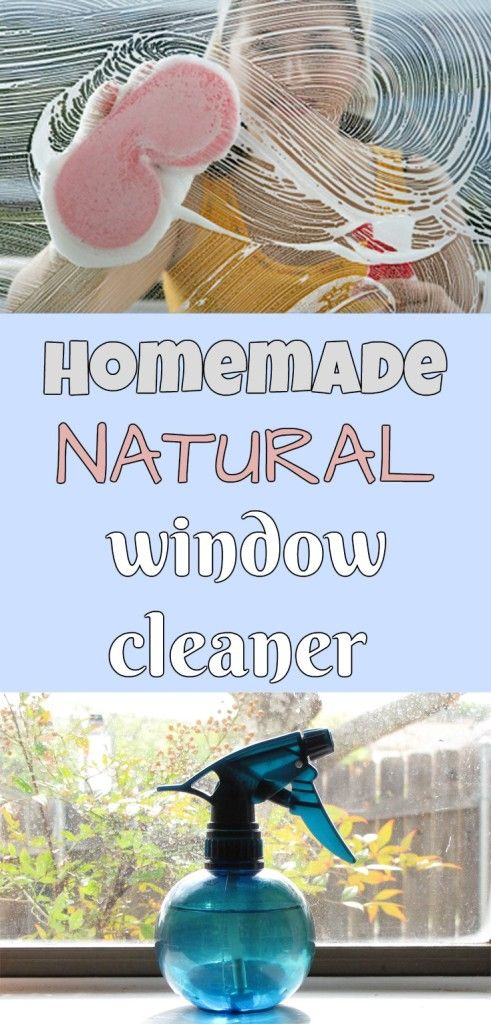 Learn how to make a homemade natural window cleaner.