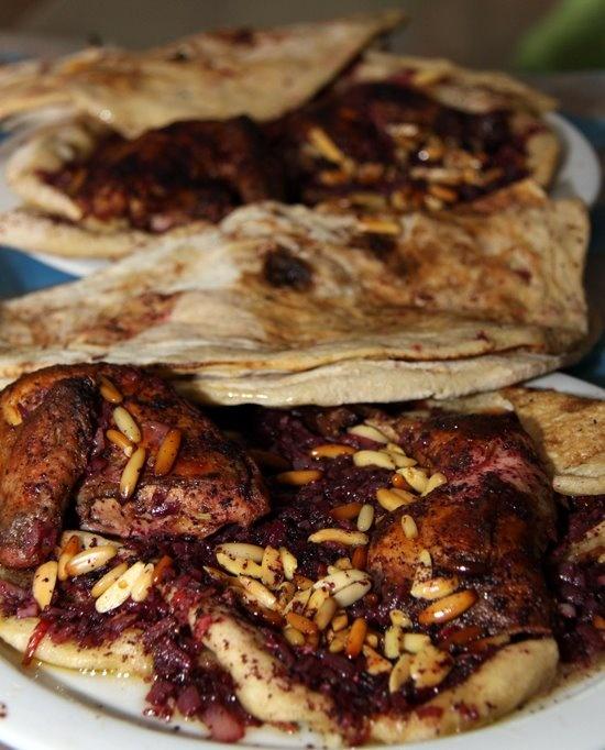 Musakhan (Palestinian sumac-scented roast chicken)