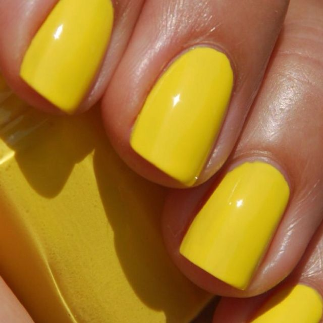 Essie Shorty Pants yellow nail polish | beauty | Pinterest