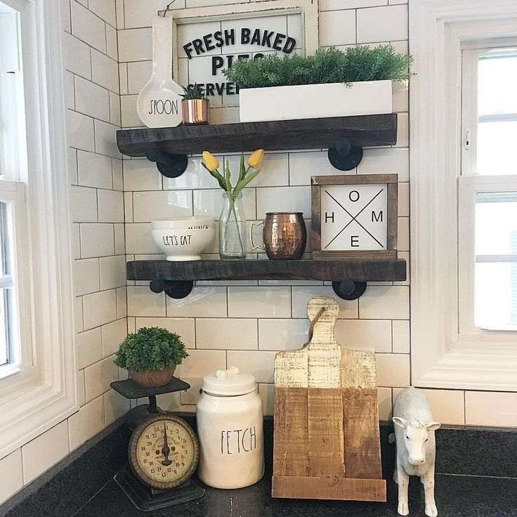 """133 Likes, 32 Comments - TiffanyThe Handmade Farmhouse (@thehandmadefarmhouse) on Instagram: """"Loving the open shelves in the kids bathroom. Hopefully they will pay attention to their new sign…"""""""