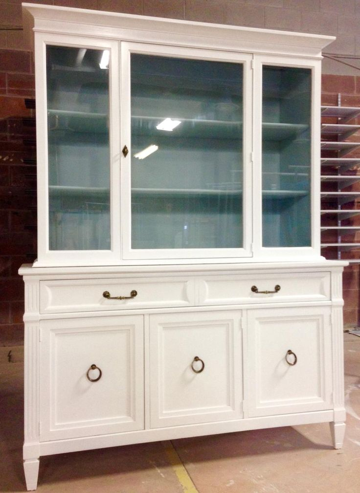 twotone buffet and hutch sprayed at paint it like new