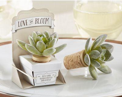 Original tapón de vino en forma de planta para regalar como detalle de #boda a los invitados
