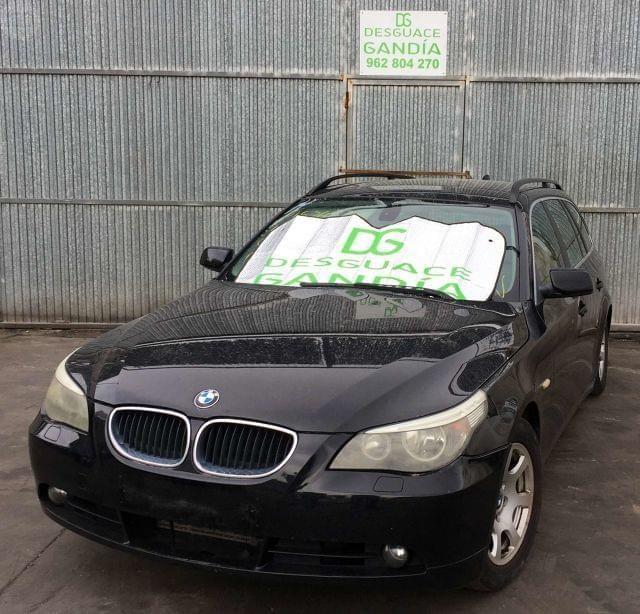 . Despiece completo, BMW 525, 2004, E61, 2.5 D, Ranchera. Color: Negro. Referencia motor: NJ52, 150042 KM. abs,aforador,aletas,antinieblas,antirrobo,alternador,amortiguador,airbag,asientos,bomba direcci�n, caudalimetro, caja de cambio, capo, centralita, cerraduras, compresor aire acondicionado, cuadro completo, direcci�n asistida, elevalunas, electro ventilador, eje trasero, faro, intercooler, intermitente, llantas, mando de luces-limpia, mandos calefacci�n - climatizaci�n, motor arranque…