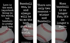 Free Printable Baseball Quotes Bookmarks