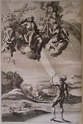 Paradise Lost - The Creation of Man, engraving from the 1688 edition, by John Baptist Medina