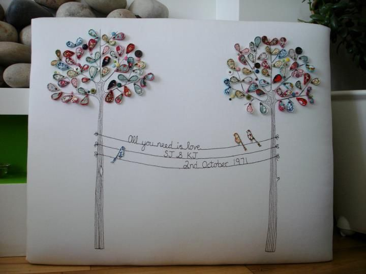 Supercutetilly: All you need is love. This would be a cute quilling project or a pillow.