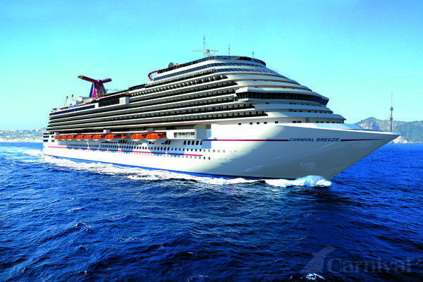 We were on the inaugural cruise of The Carnival Breeze June 2012 in the Mediterranean Sea,  The best cruise yet!