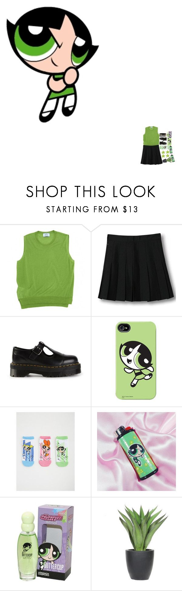 """5297"" by tiffanyelinor ❤ liked on Polyvore featuring Prada, WithChic, Dr. Martens, Torrid and Lux-Art Silks"