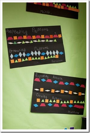 Repeating and growing patterns activity- idea only
